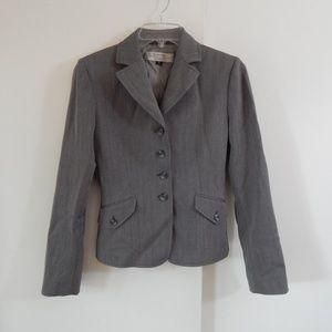 gray TAHARI jacket blazer career petite 2P